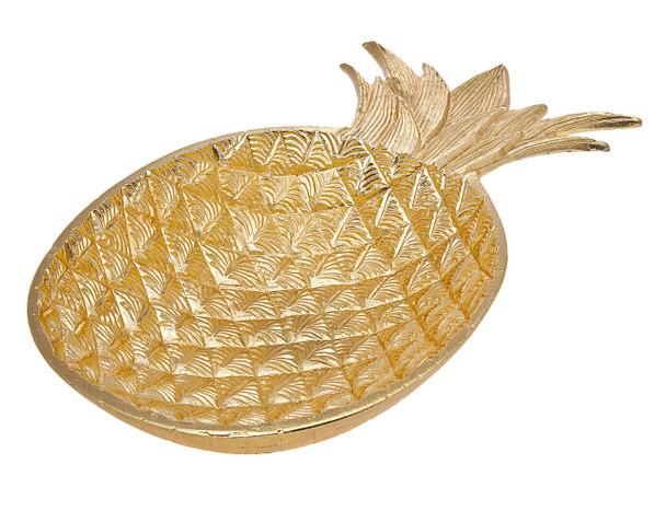 Large Gold Pineapple Bowl