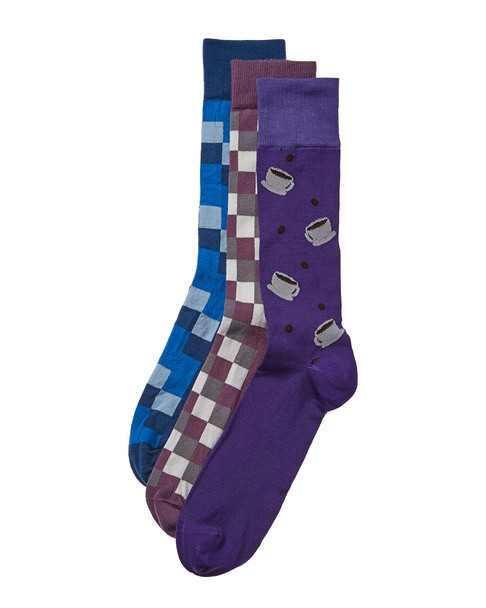 Checkerbox Pack of 3 Socks~10101592160000