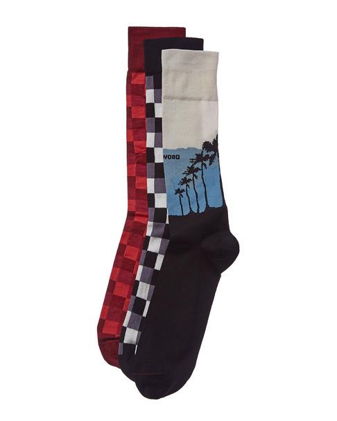Checkerbox Pack of 3 Socks~10101592170000