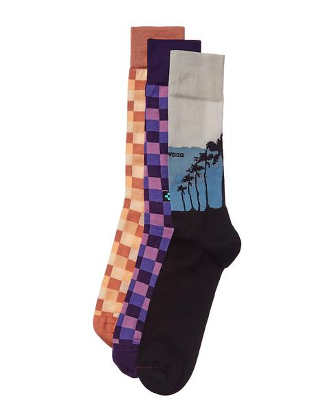 Checkerbox Pack of 3 Socks~10101592180000