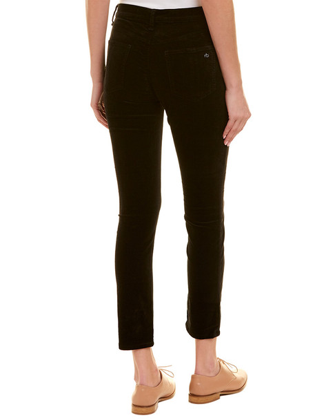 rag & bone Black Velvet High-Rise Skinny Leg~1411102287
