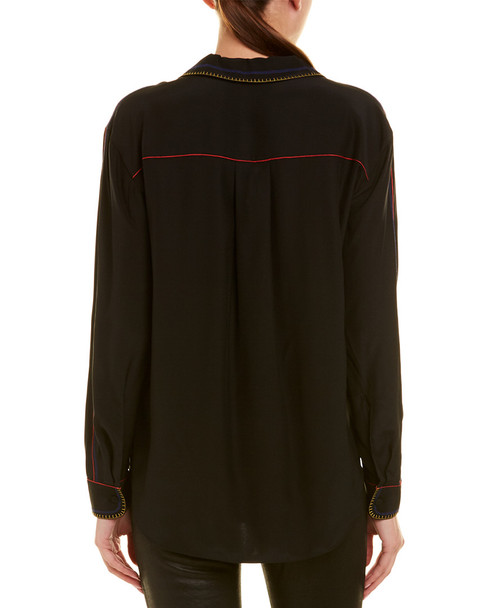 rag & bone Anika Silk Pajama Shirt~1411541021