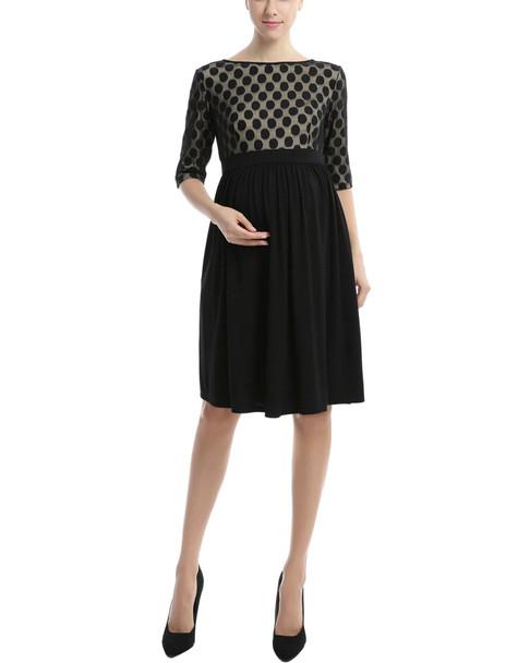 Kimi + Kai Maternity Charlie Polka Dot Lace Dress~1411979451