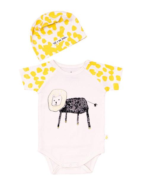 Noe & Zoe Berlin Giraffe One Piece & Hat Set~1511901669