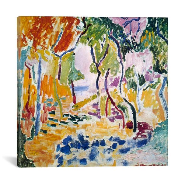 iCanvas ''Landscape near Collioure (Study for Le Bonheur de Vivre), 1905'' by Henri Matisse Gallery-Wrapped Canvas Print~11131-1PC3