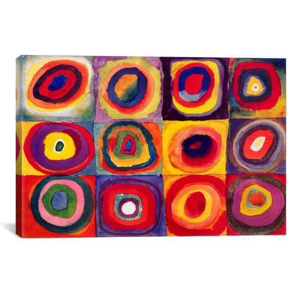 iCanvas ''Squares with Concentric Circles'' by Wassily Kandinsky Gallery-Wrapped Canvas Print~11426-1PC3