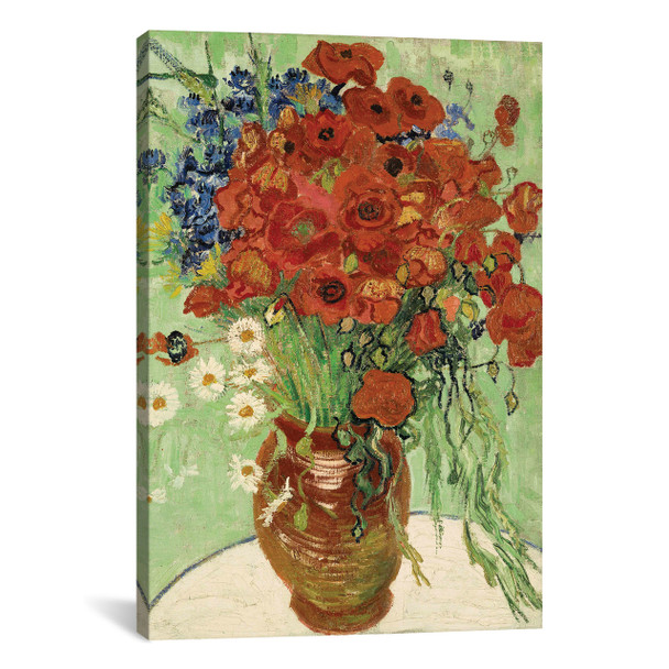 iCanvas ''Vase with Daisies and Poppies'' by Vincent van Gogh Gallery-Wrapped Canvas Print~1319-1PC3
