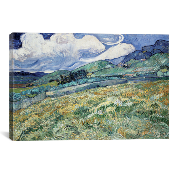 iCanvas ''Landscape at Saint-Remy'' by Vincent van Gogh Gallery-Wrapped Canvas Print~14360-1PC3