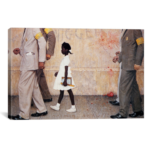 iCanvas ''The Problem We All Live With (Ruby Bridges)'' by Norman Rockwell Gallery-Wrapped Canvas Print~1543-1PC3