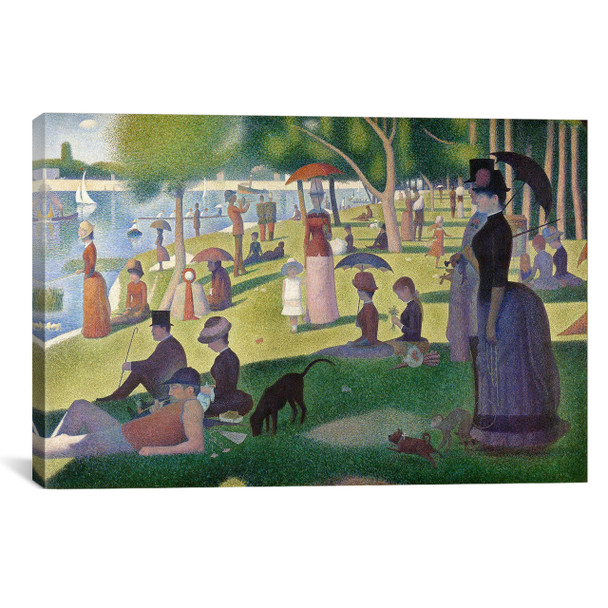 iCanvas ''Sunday Afternoon on the Island of La Grande Jatte'' by Georges Seurat Gallery-Wrapped Canvas Print~301-1PC3