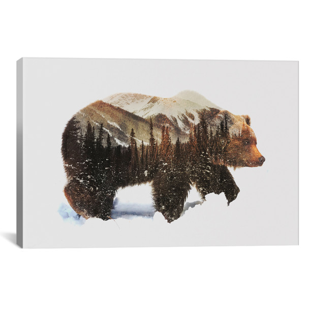 iCanvas ''Arctic Grizzly Bear'' by Andreas Lie Gallery-Wrapped Canvas Print~ALE82-1PC3