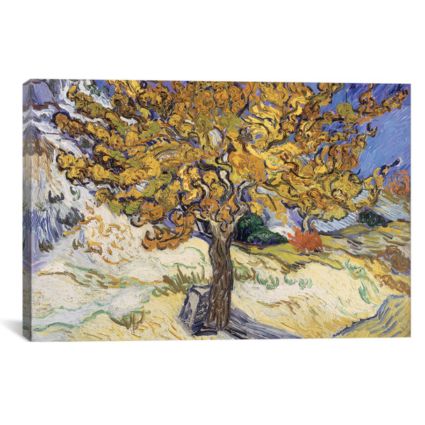 iCanvas ''Mulberry Tree, 1889 '' by Vincent van Gogh Gallery-Wrapped Canvas Print~BMN1080-1PC3