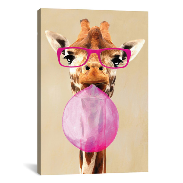 iCanvas ''Clever Giraffe With Bubblegum'' by Coco de Paris Gallery-Wrapped Canvas Print~COC20-1PC3