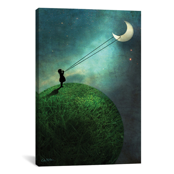iCanvas ''Chasing The Moon'' by Catrin Welz-Stein Gallery-Wrapped Canvas Print~CWS7-1PC3