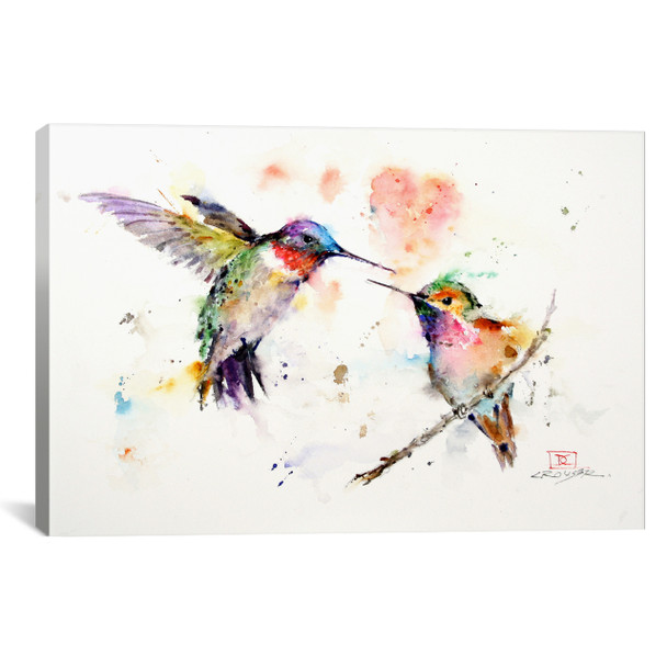 iCanvas ''Hummingbirds'' by Dean Crouser Gallery-Wrapped Canvas Print~DCR56-1PC3