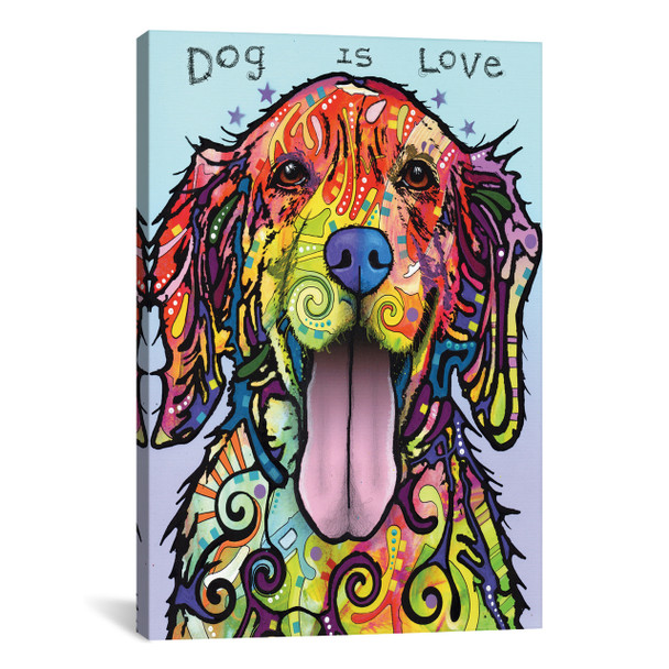 iCanvas ''Dog Is Love'' by Dean Russo Gallery-Wrapped Canvas Print~DRO192-1PC3