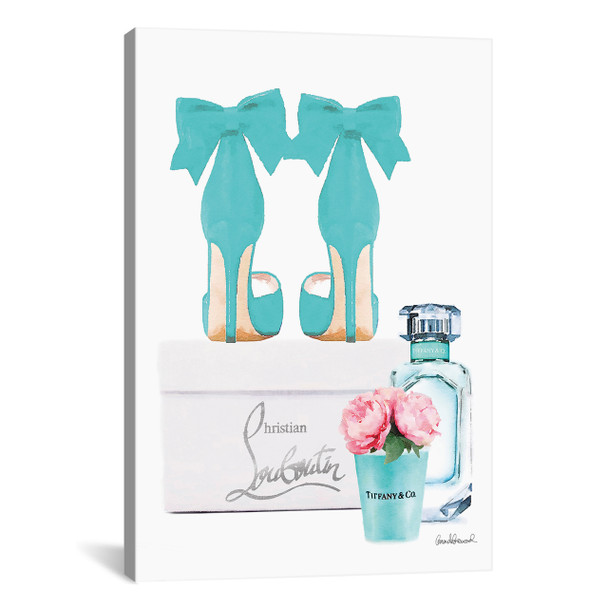 iCanvas ''Teal Perfume Set III'' by Amanda Greenwood Gallery-Wrapped Canvas Print~GRE227-1PC3