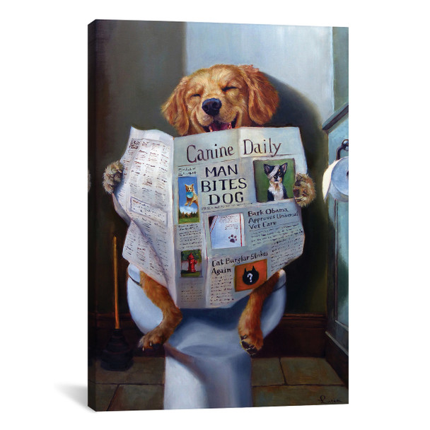iCanvas ''Dog Gone Funny'' by Lucia Heffernan Gallery-Wrapped Canvas Print~HEF83-1PC3
