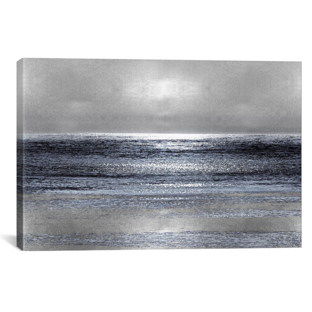 iCanvas ''Silver Seascape III'' by Michelle Matthews Gallery-Wrapped Canvas Print~HEW3-1PC3