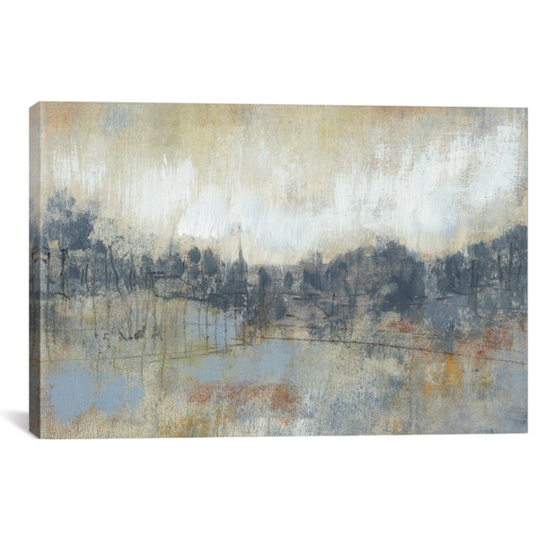 iCanvas ''Cool Grey Horizon I'' by Jennifer Goldberger Gallery-Wrapped Canvas Print~JGO25-1PC3