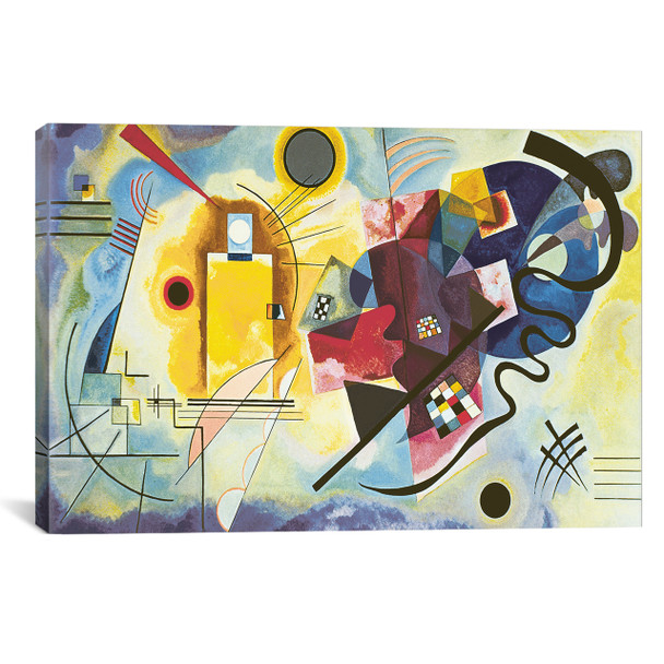 iCanvas ''Gelb - Rot - Blau (Yellow-Red-Blue), 1925'' by Wassily Kandinsky Gallery-Wrapped Canvas Print~KAN1-1PC3