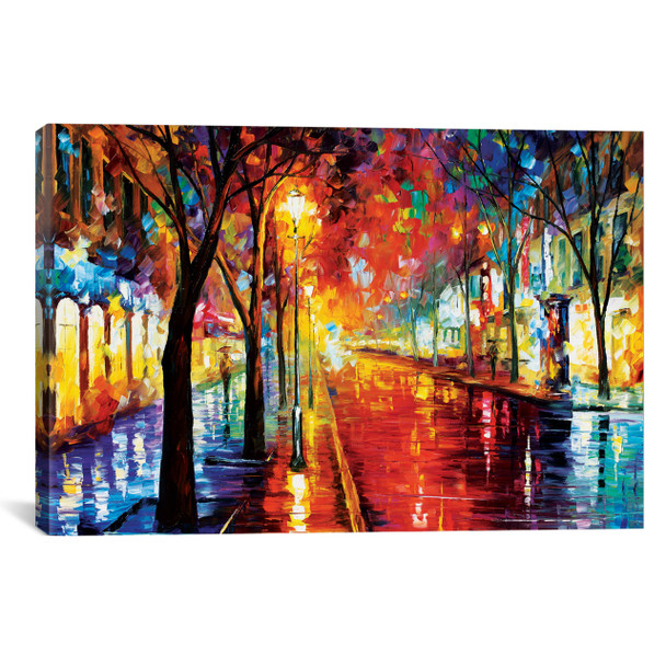 iCanvas ''Street Of The Old Town'' by Leonid Afremov Gallery-Wrapped Canvas Print~LEA80-1PC3