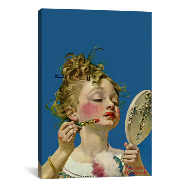 iCanvas ''Little Girl with Lipstick'' by Norman Rockwell Gallery-Wrapped Canvas Print~NRL177-1PC3