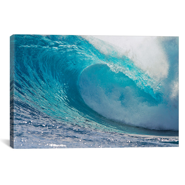 iCanvas ''Plunging Waves II, South Pacific Ocean, Tahiti, French Polynesia'' by Panoramic Images Gallery-Wrapped Canvas Print~PIM14185-1PC3
