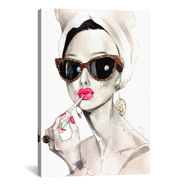 iCanvas ''Audrey Hepburn'' by Rongrong DeVoe Gallery-Wrapped Canvas Print~RDE17-1PC3