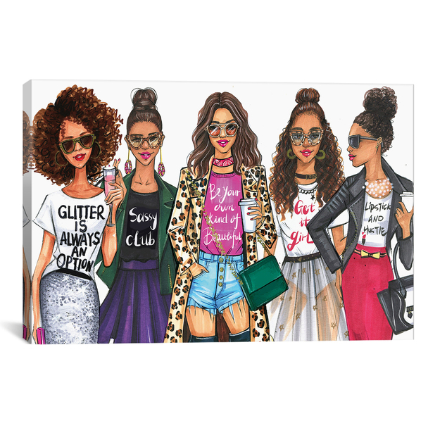 iCanvas ''Fashionistas, African American'' by Rongrong DeVoe Gallery-Wrapped Canvas Print~RDE185-1PC3