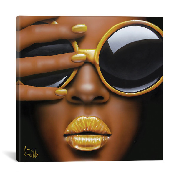iCanvas ''Goldilips'' by Scott Rohlfs Gallery-Wrapped Canvas Print~SCR27-1PC3