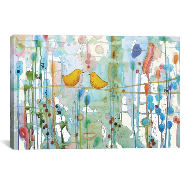 iCanvas ''Dans Chaque Coeur'' by Sylvie Demers Gallery-Wrapped Canvas Print~SDS70-1PC3