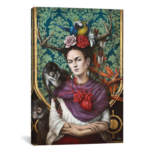 iCanvas ''Hommage a Frida (A Tribute To Frida) I'' by Sophie Wilkins Gallery-Wrapped Canvas Print~SOP1-1PC3