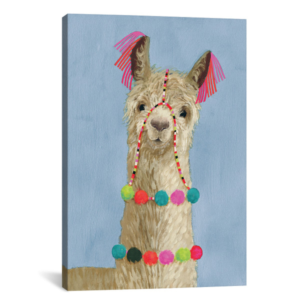 iCanvas ''Adorned Llama III'' by Victoria Borges Gallery-Wrapped Canvas Print~VBO11-1PC3