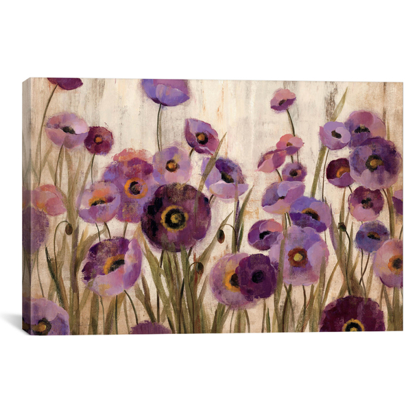 iCanvas ''Pink and Purple Flowers '' by Silvia Vassileva Gallery-Wrapped Canvas Print~WAC1403-1PC3