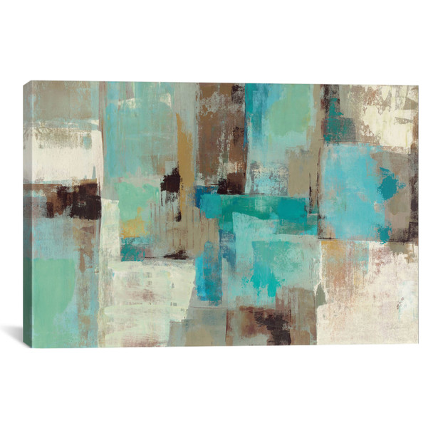 iCanvas ''Teal and Aqua Reflections #2'' by Silvia Vassileva Gallery-Wrapped Canvas Print~WAC1467-1PC3