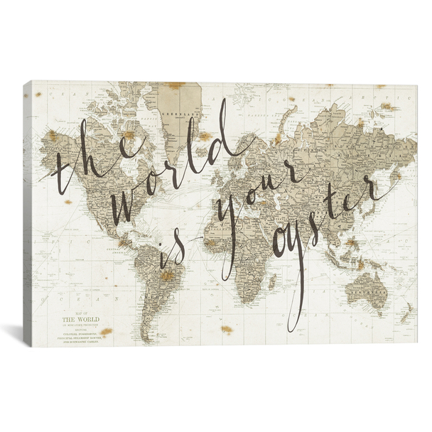 iCanvas ''The World Is Your Oyster'' by Sara Zieve Miller Gallery-Wrapped Canvas Print~WAC3127-1PC3