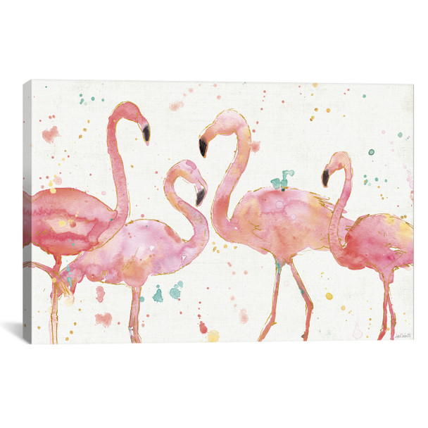 iCanvas ''Flamingo Fever I'' by Anne Tavoletti Gallery-Wrapped Canvas Print~WAC3795-1PC3