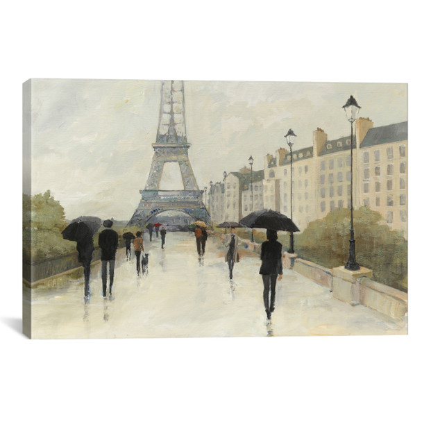 iCanvas ''Eiffel in the Rain'' by Avery Tillmon Gallery-Wrapped Canvas Print~WAC3809-1PC3