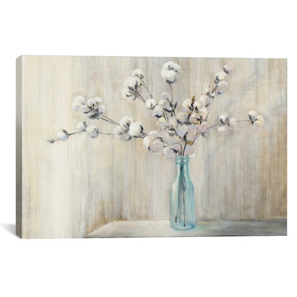 iCanvas ''Cotton Bouquet'' by Julia Purinton Gallery-Wrapped Canvas Print~WAC7046-1PC3