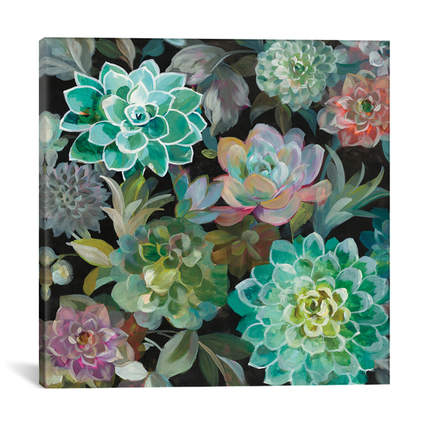 iCanvas ''Floral Succulents In Zoom'' by Danhui Nai Gallery-Wrapped Canvas Print~WAC7202-1PC3