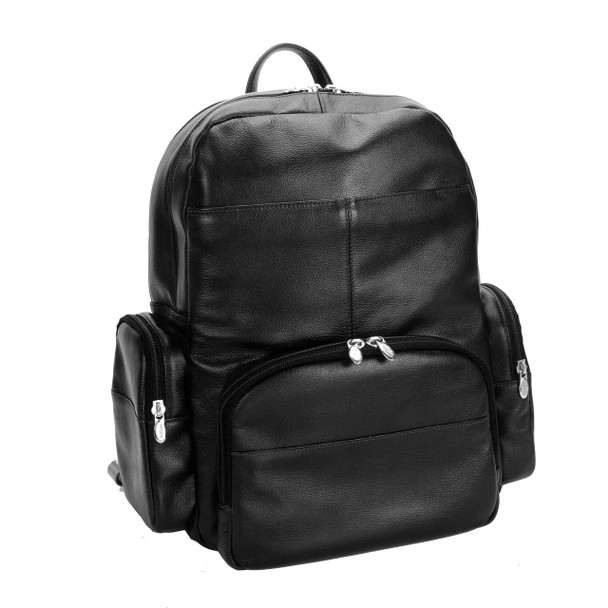 "McKlein CUMBERLAND 15"" Leather Dual Compartment Laptop Backpack~8836"