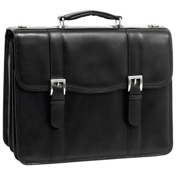 "McKlein FLOURNOY 15"" Leather Double Compartment Laptop Briefcase~8595"