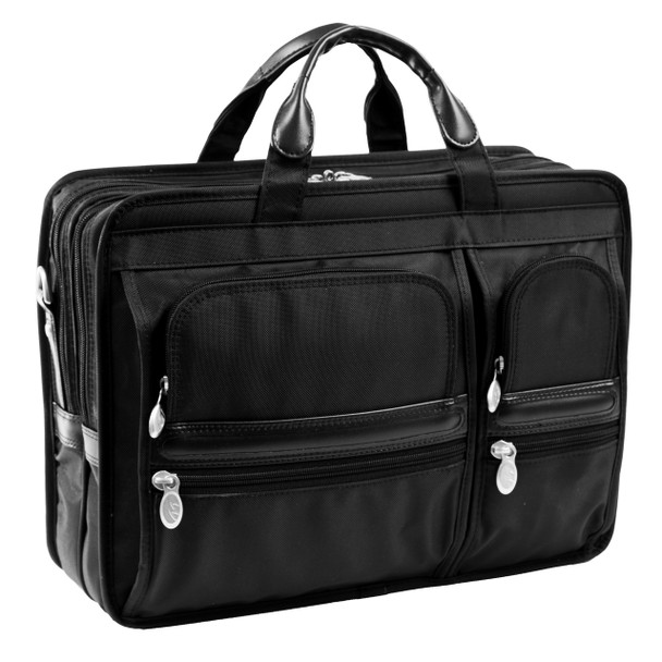"McKlein HUBBARD 15"" Nylon Double Compartment Laptop Briefcase~58435"