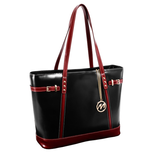 McKlein SERAFINA Ladies' Leather Tote with Tablet Pocket~9756