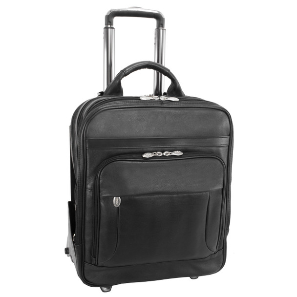 "McKlein WICKER PARK 17"" Leather Patented Detachable Wheeled Three-Way Laptop Backpack Briefcase~47195"