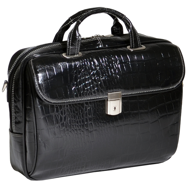 "Siamod IGNOTO 17"" Ladies' Large Leather Laptop Briefcase~35515"
