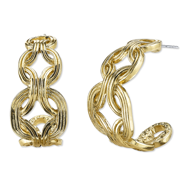 Gold-Tone Hoop Earrings~26221