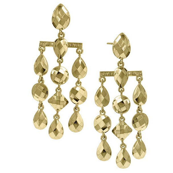 Gold-Tone Droplet Chandelier Earrings~28531
