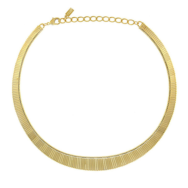 "18"" Adjustable 14K Gold Dipped Collar Necklace~42344"